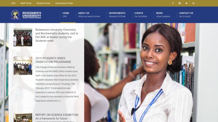 Faculty Of Natural Science Website, Redeemer's University