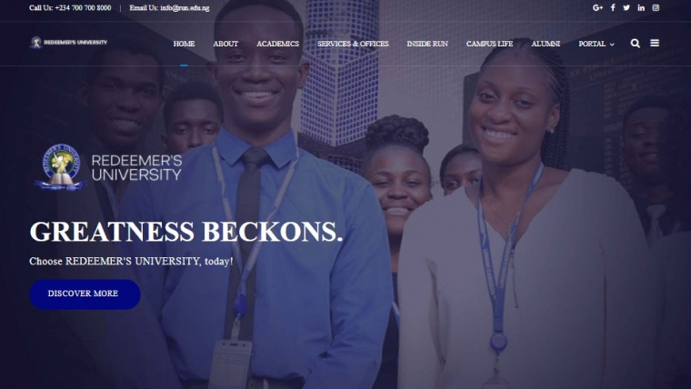 Redeemer's University Website